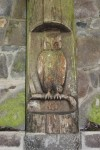 wood carving at Bear Springs picnic area